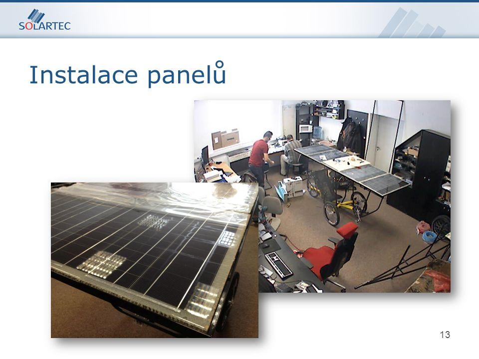13 p-typový Si Instalace panelů