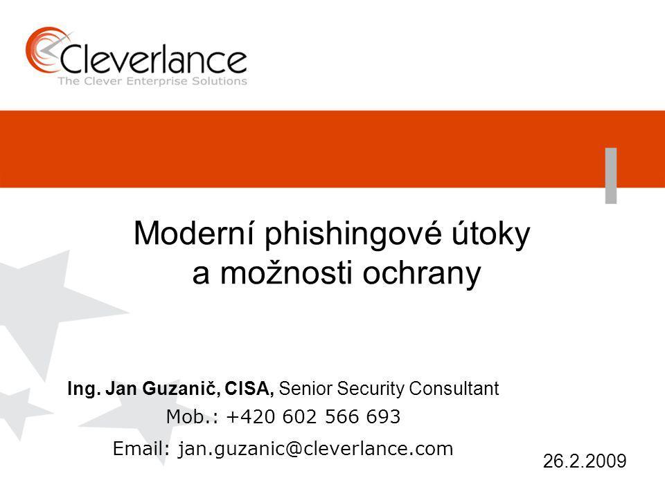 Moderní phishingové útoky a možnosti ochrany Ing.