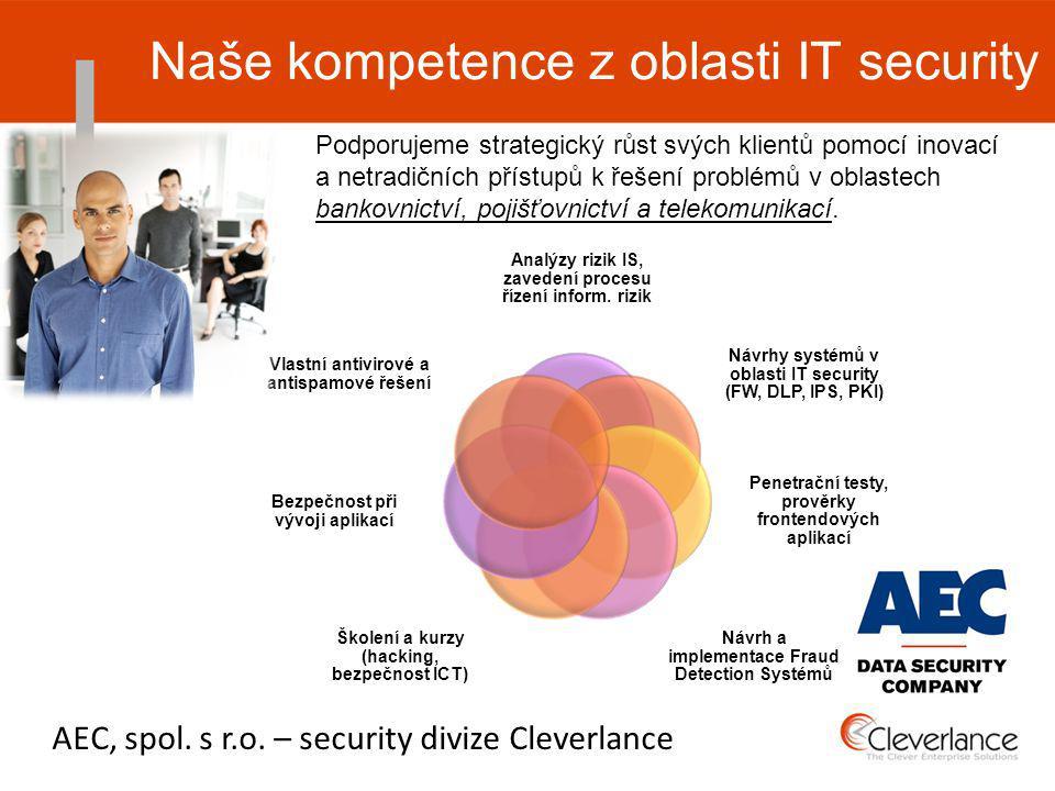 Analýzy rizik IS, zavedení procesu řízení inform.