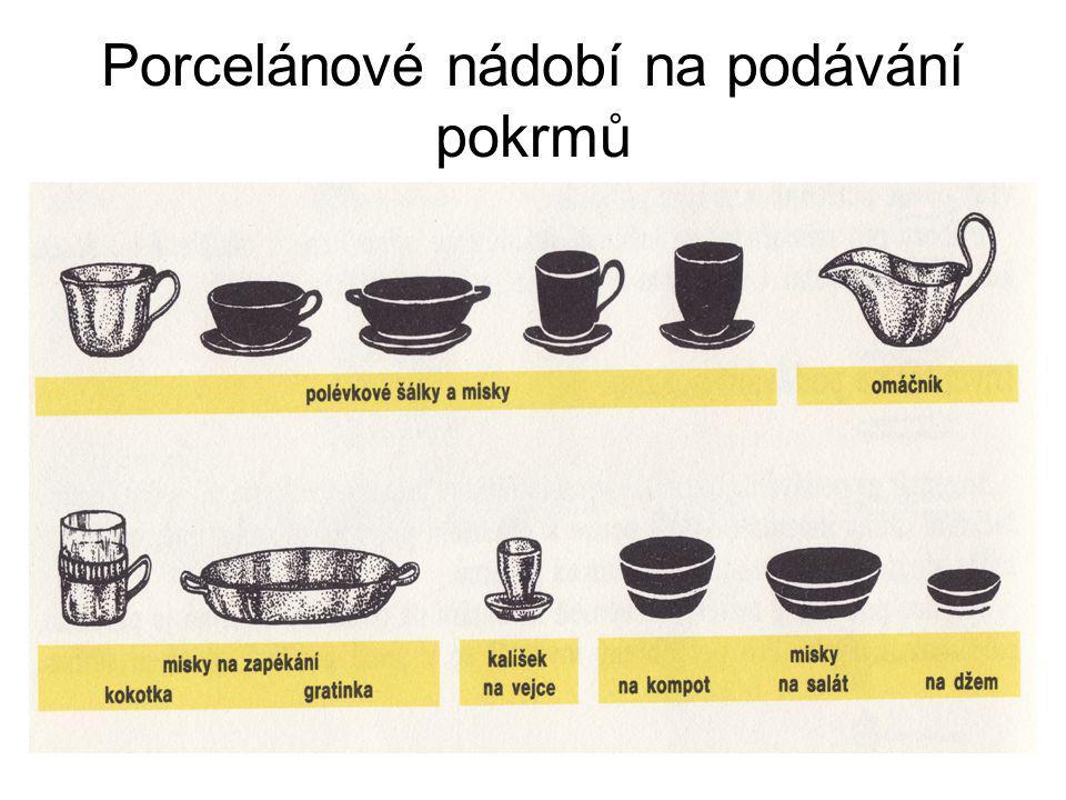 Porcelánové nádobí na podávání pokrmů