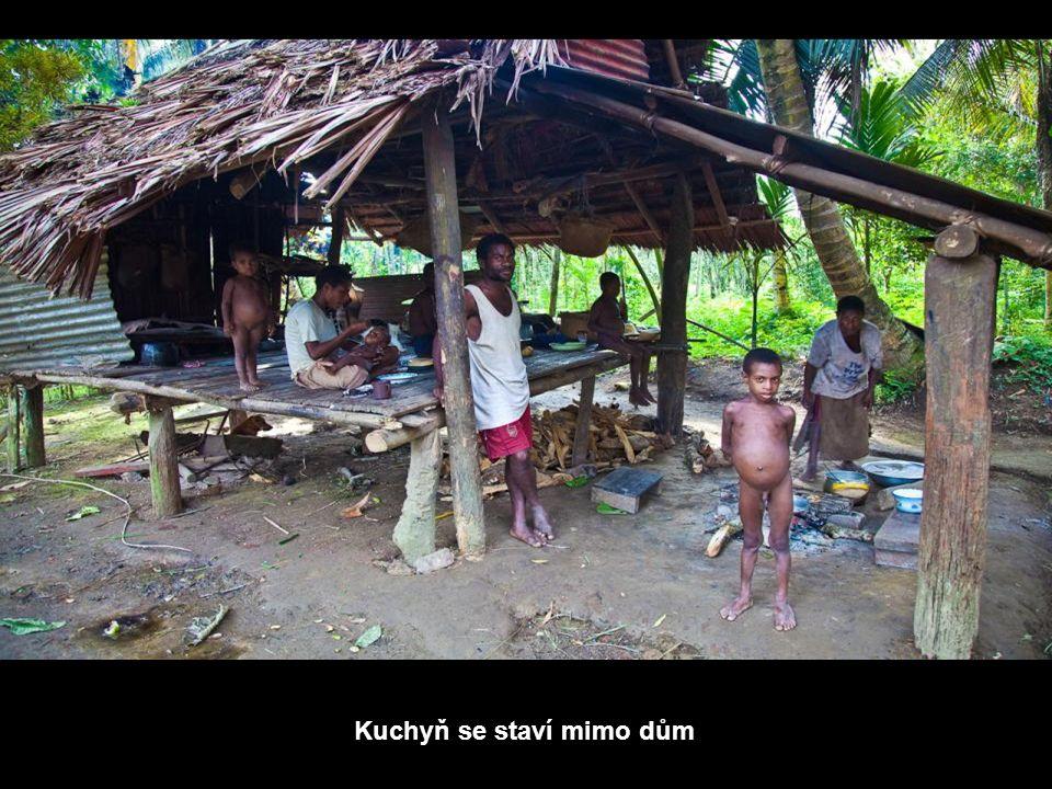 Domy zde jsou postavené na kůlech, aby nebyly zaplaveny vodou při kolísání hladiny řeky