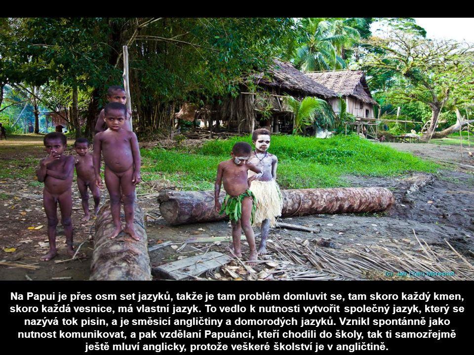Na Papui je přes osm set jazyků, takže je tam problém domluvit se, tam skoro každý kmen, skoro každá vesnice, má vlastní jazyk.
