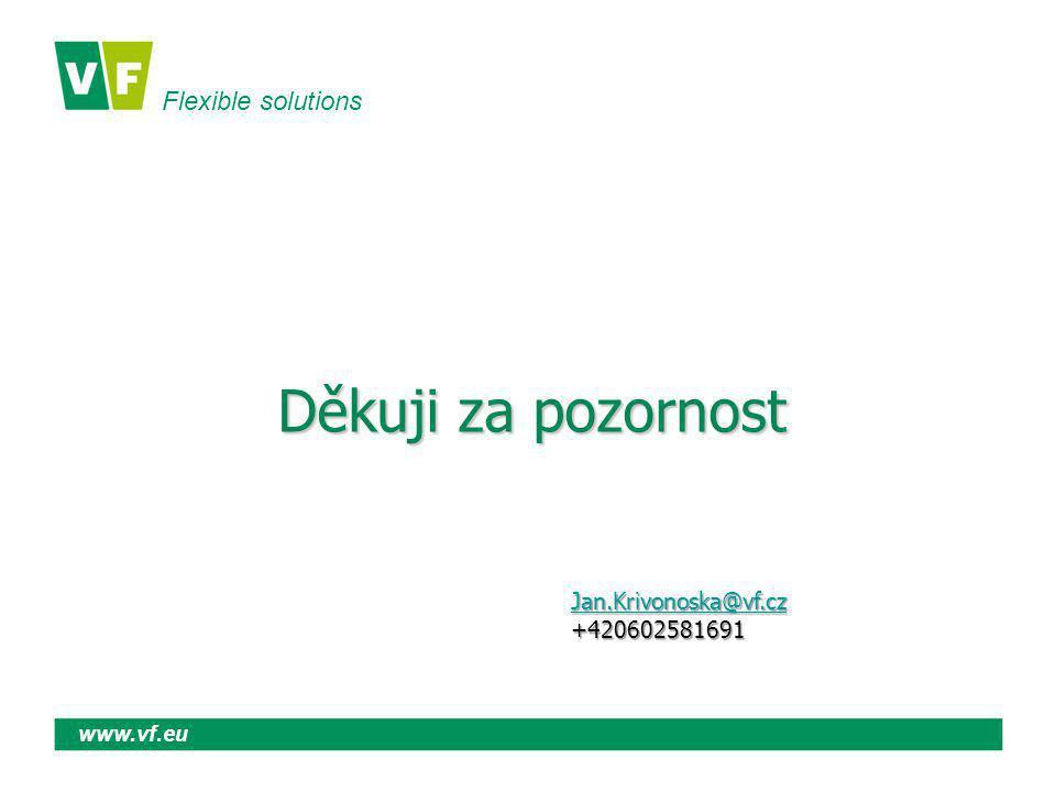 Flexible solutions www.vf.eu Děkuji za pozornost Jan.Krivonoska@vf.cz +420602581691