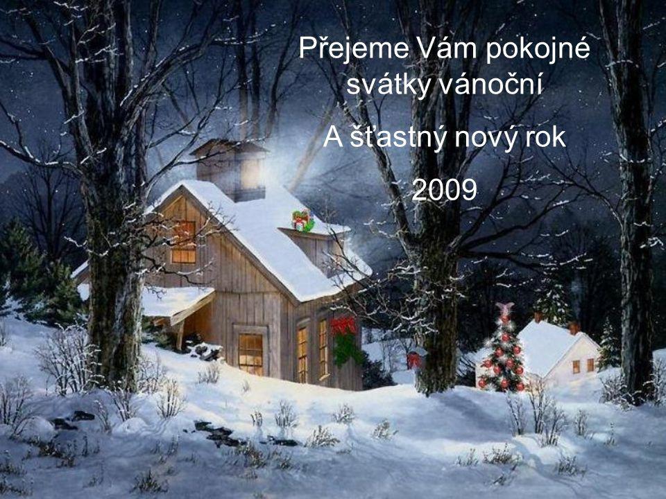 Přejeme Vám pokojné svátky vánoční A šťastný nový rok 2009