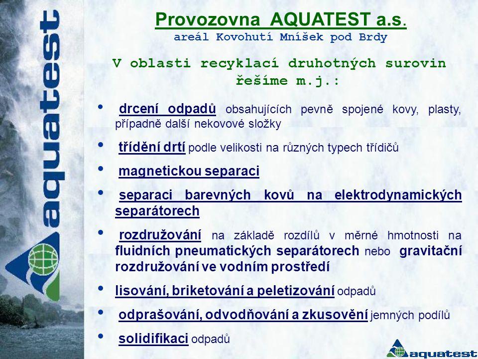 Provozovna AQUATEST a.s.