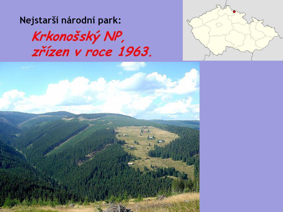 Krkonošský NP, zřízen v roce 1963. Nejstarší národní park: