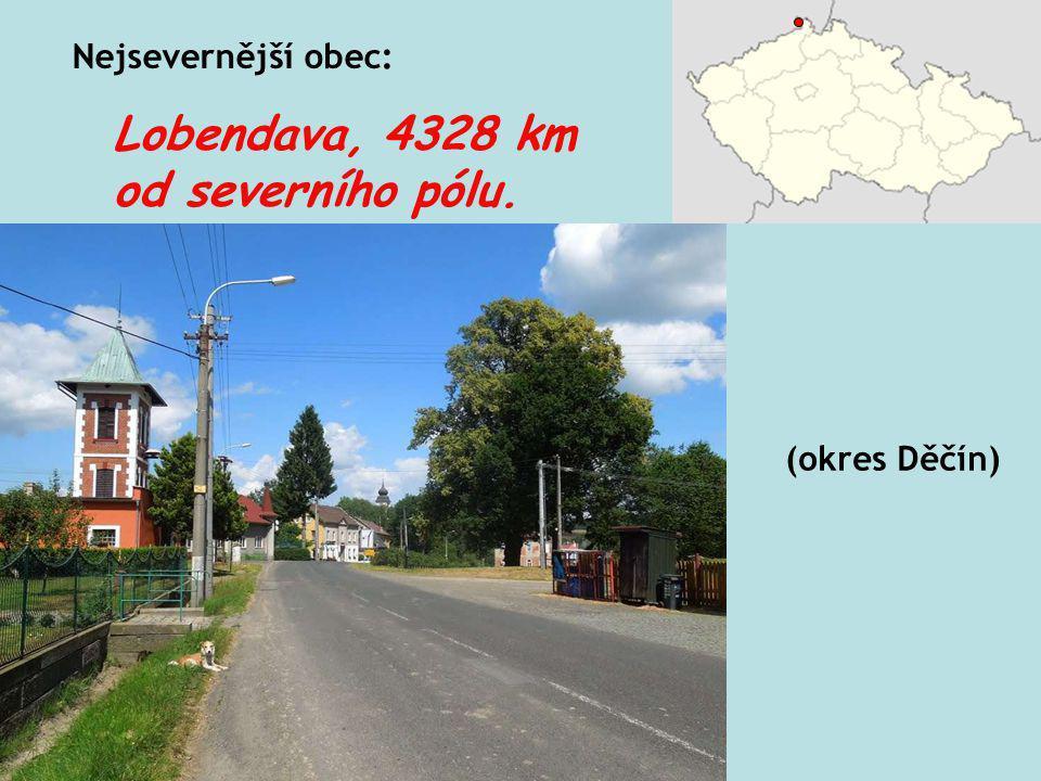 Nejmenší šířka státního území: 143 km mezi Mikulovem a Králíky.