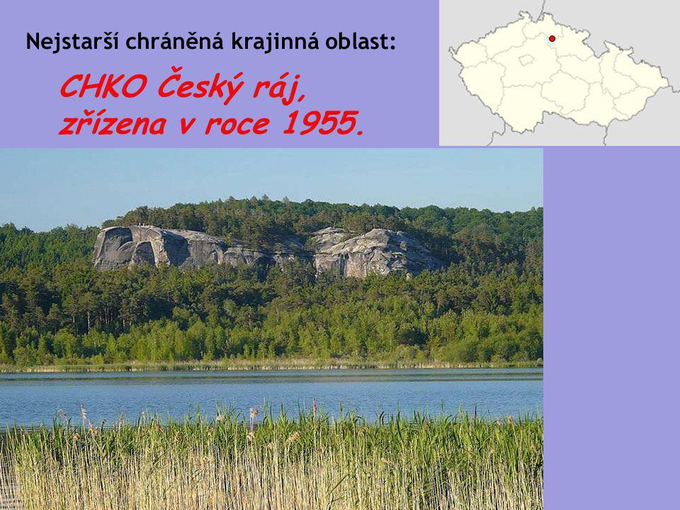 CHKO Český ráj, zřízena v roce 1955. Nejstarší chráněná krajinná oblast:
