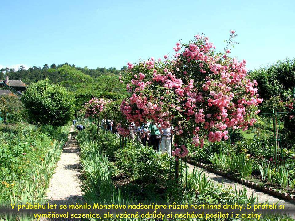 Monet si na své zahradě velice zakládal. Udržovalo ji šest zahradníků pod vedením hlavního zahradníka