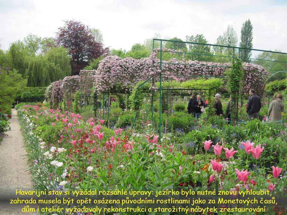 Spojil se s André Devillersem, který znal Georgese Truffauta, Monetova zahradníka. S jeho pomocí zrestauroval obě části zahrady do původního stavu