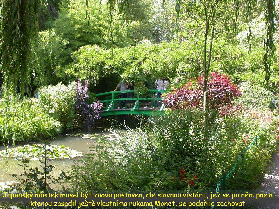 Havarijní stav si vyžádal rozsáhlé úpravy: jezírko bylo nutné znovu vyhloubit, zahrada musela být opět osázena původními rostlinami jako za Monetových