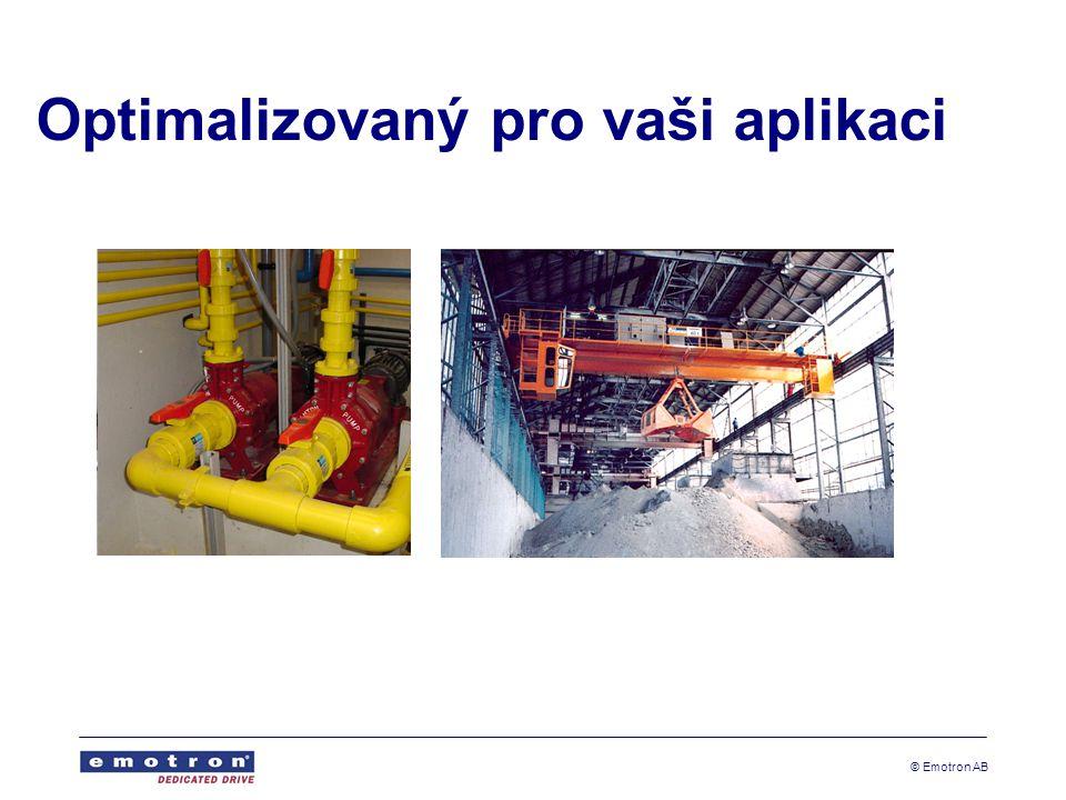 © Emotron AB Čerpadla Automatické proplachování čerpadla Optimalizovaný provoz Méně údržby Méně prostojů