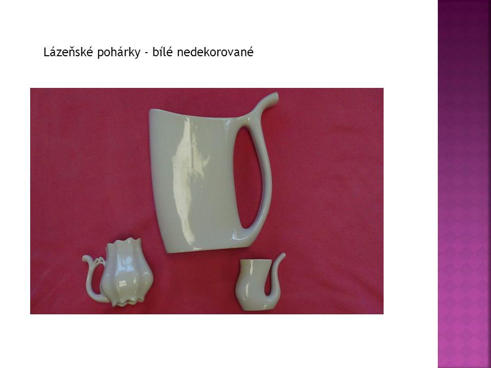 Lázeňské pohárky - bílé nedekorované