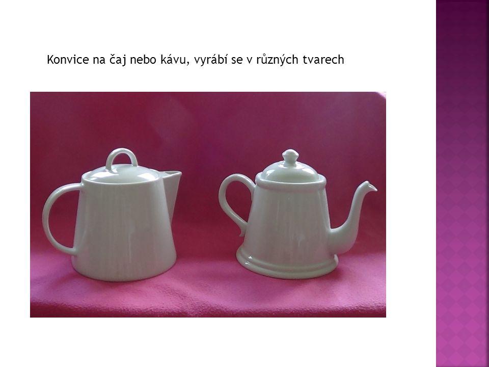 Konvice na čaj nebo kávu, vyrábí se v různých tvarech