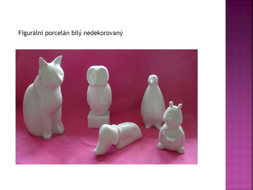 Figurální porcelán bílý nedekorovaný
