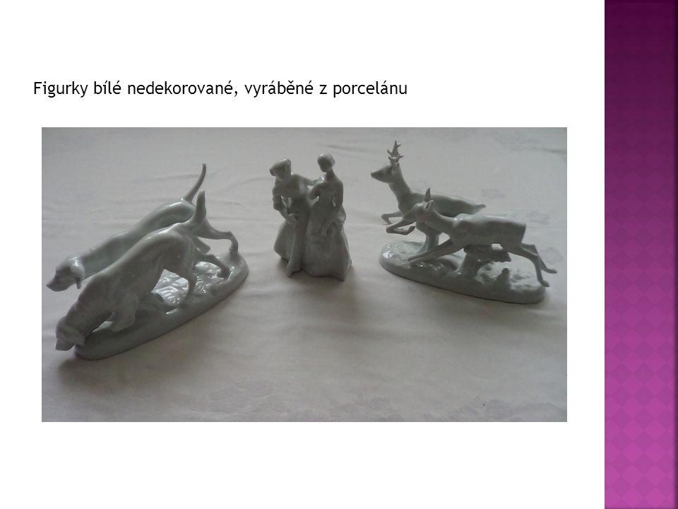 Figurky bílé nedekorované, vyráběné z porcelánu