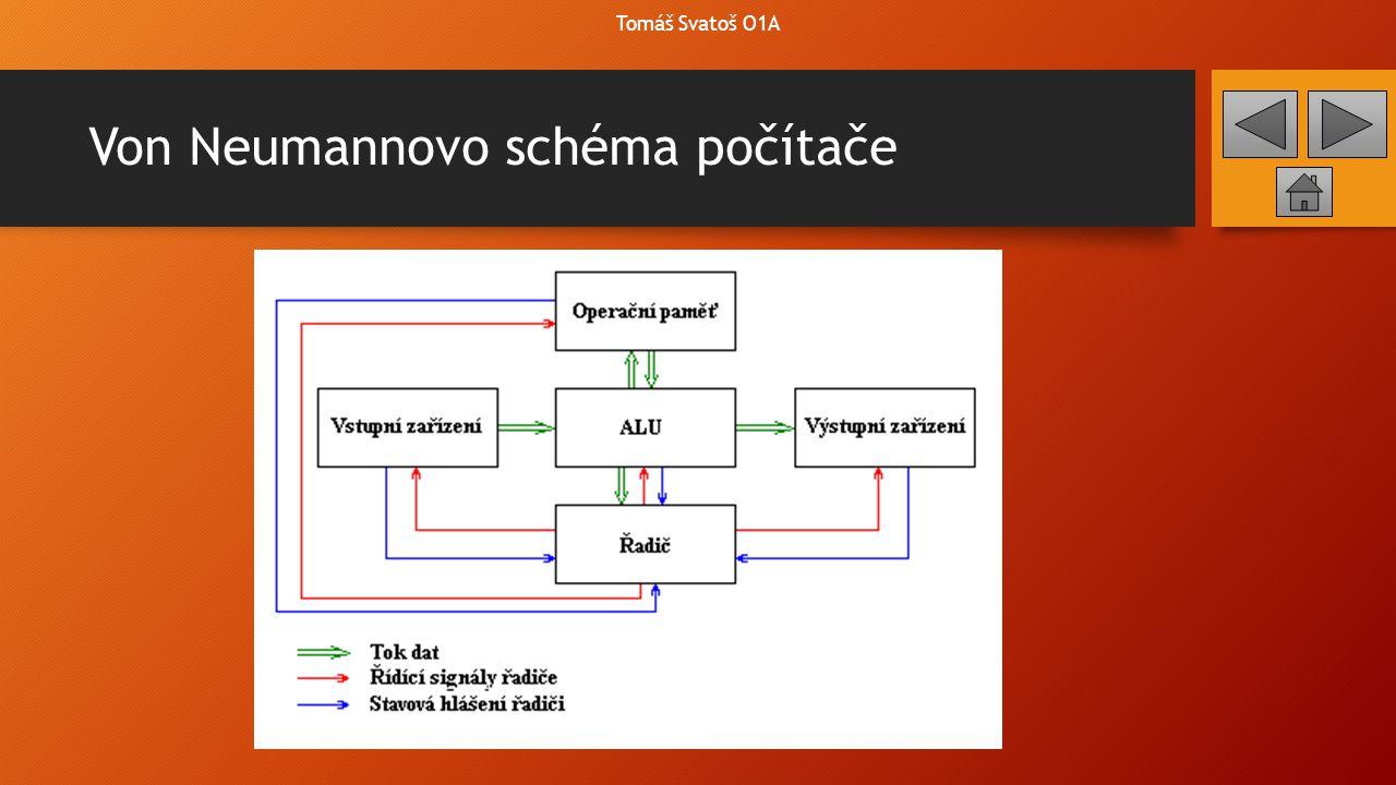 Von Neumannovo schéma počítače Tomáš Svatoš O1A
