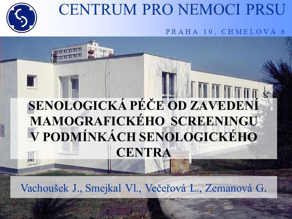 CENTRUM PRO NEMOCI PRSU P R A H A 1 0, C H M E L O V Á 6 Výsledky datového auditu mamografického screeningu od 1.9.2002 do 31.