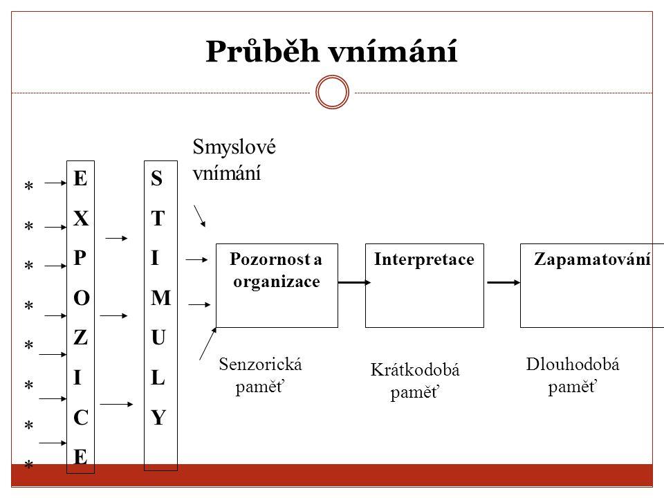 Podněty musí překonat prahovou hodnotu: 1.Absolutní práh (dolní) signál začíná být zachytitelný 2.