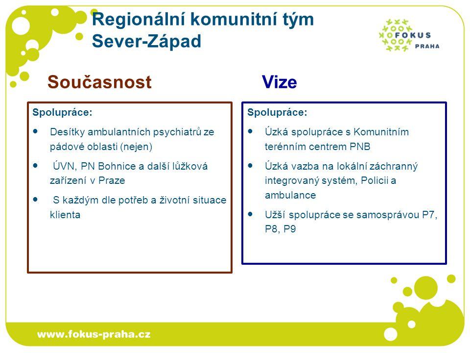 Regionální komunitní tým Sever-Západ Spolupráce: Desítky ambulantních psychiatrů ze pádové oblasti (nejen) ÚVN, PN Bohnice a další lůžková zařízení v