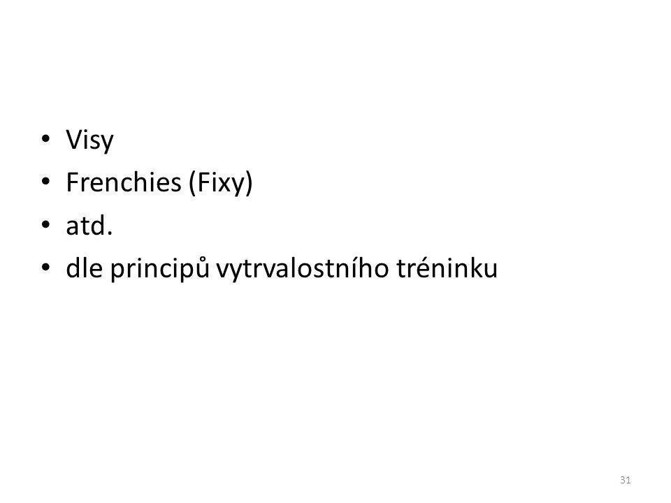 Visy Frenchies (Fixy) atd. dle principů vytrvalostního tréninku 31