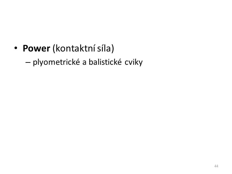Power (kontaktní síla) – plyometrické a balistické cviky 44