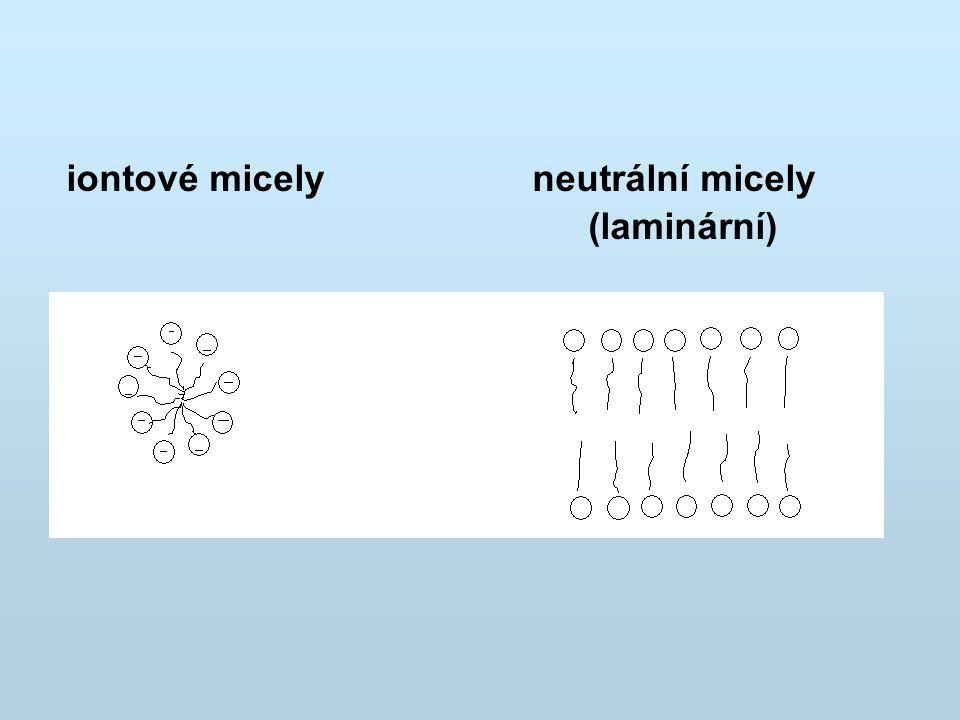 Solubilizace Schopnost převádět do roztoku látky, které jsou v čisté vodě jen velmi málo rozpustné.