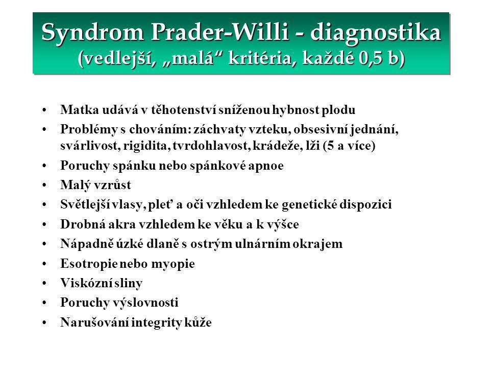 PWS – léčba GH (Česká republika) K 1.červnu 2004 bylo léčeno 25 pacientů s PWS.