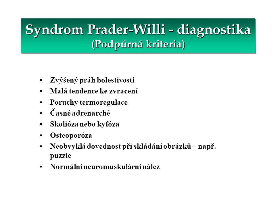 Nejzávažnější symptom a nejčastější příčina úmrtí u PWS.