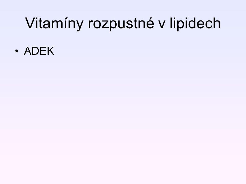 Vitamíny rozpustné v lipidech ADEK