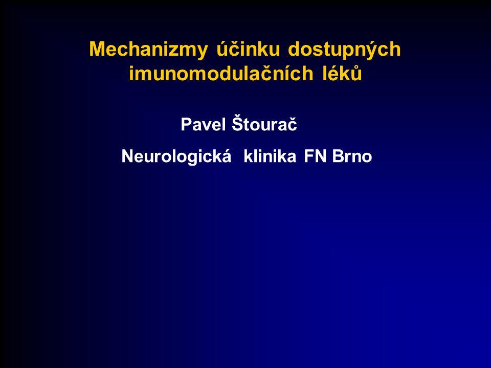 Mechanizmy účinku dostupných imunomodulačních léků Pavel Štourač Neurologická klinika FN Brno