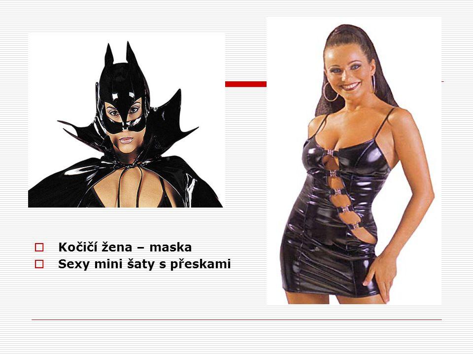  Kočičí žena – maska  Sexy mini šaty s přeskami
