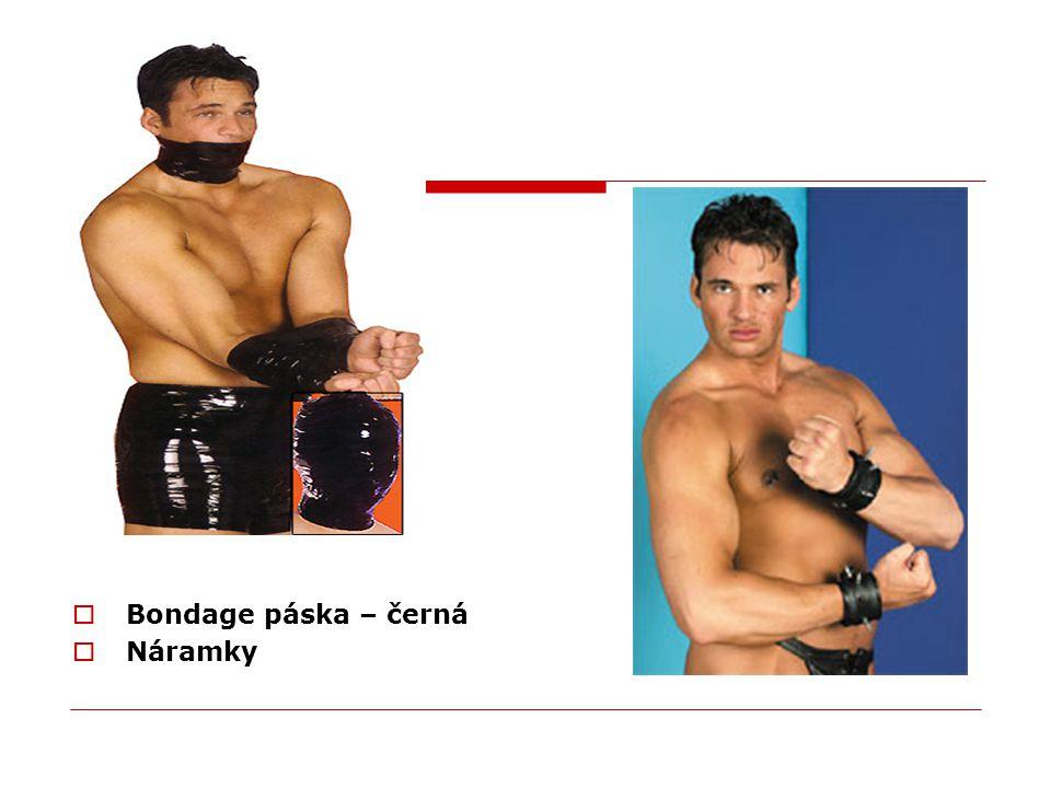  Bondage páska – černá  Náramky