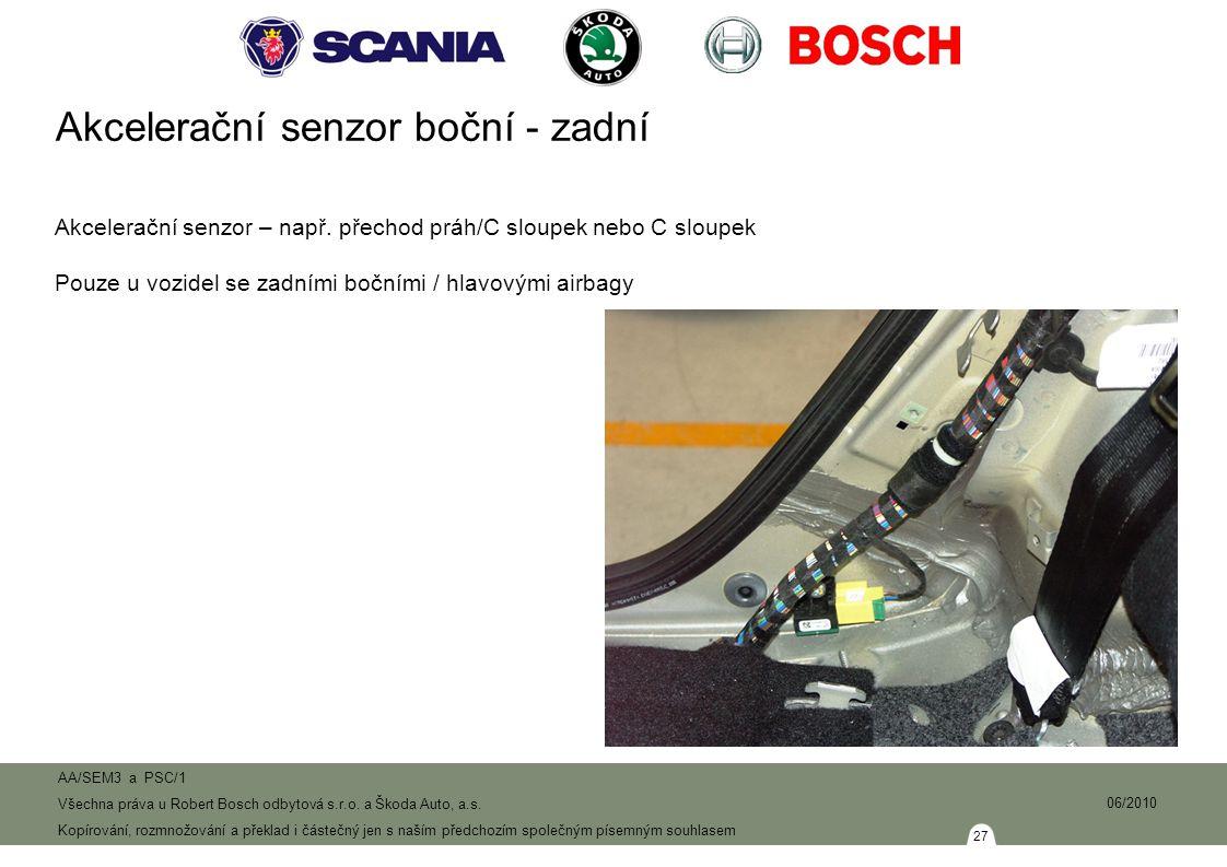 27 AA/SEM3 a PSC/1 Všechna práva u Robert Bosch odbytová s.r.o.