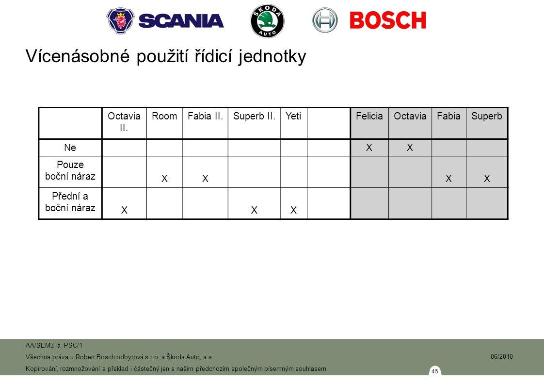 45 AA/SEM3 a PSC/1 Všechna práva u Robert Bosch odbytová s.r.o.