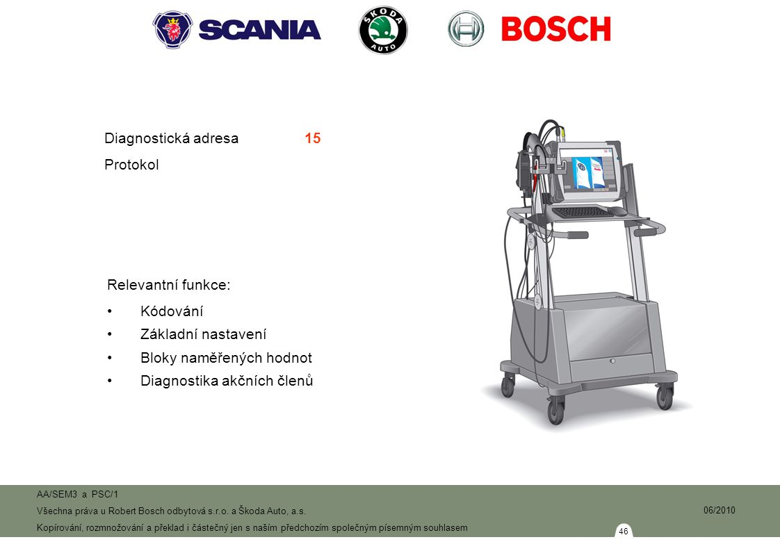 46 AA/SEM3 a PSC/1 Všechna práva u Robert Bosch odbytová s.r.o.