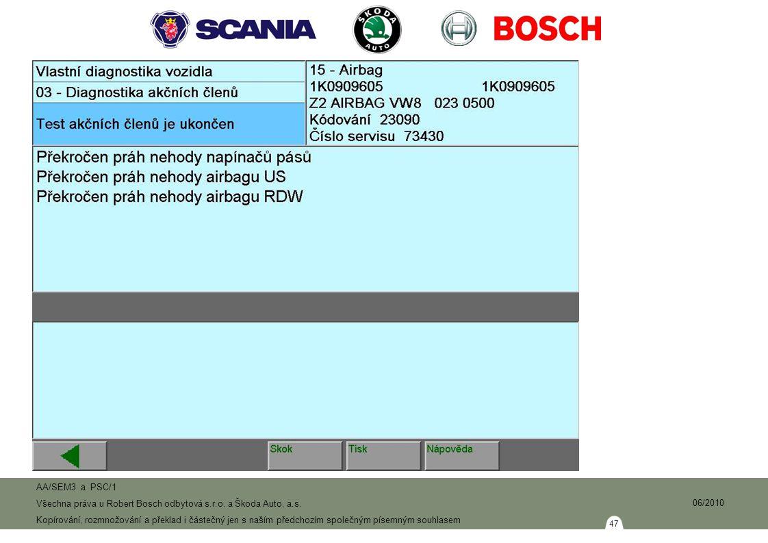 47 AA/SEM3 a PSC/1 Všechna práva u Robert Bosch odbytová s.r.o.
