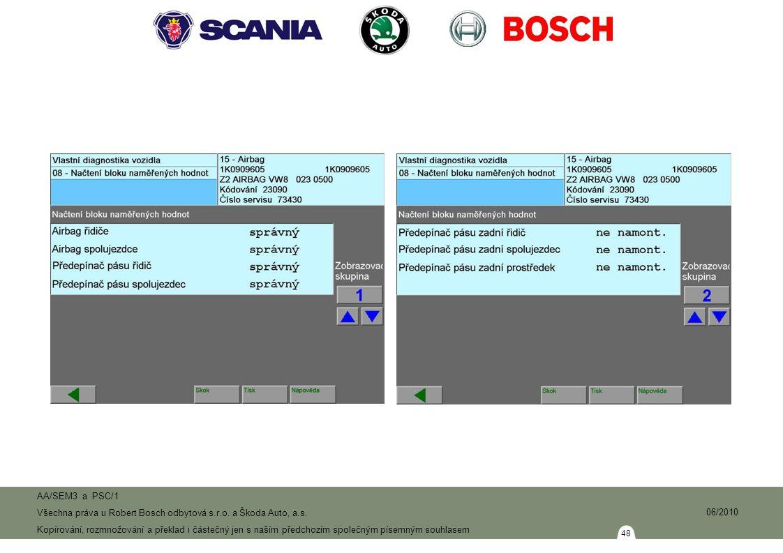 48 AA/SEM3 a PSC/1 Všechna práva u Robert Bosch odbytová s.r.o.