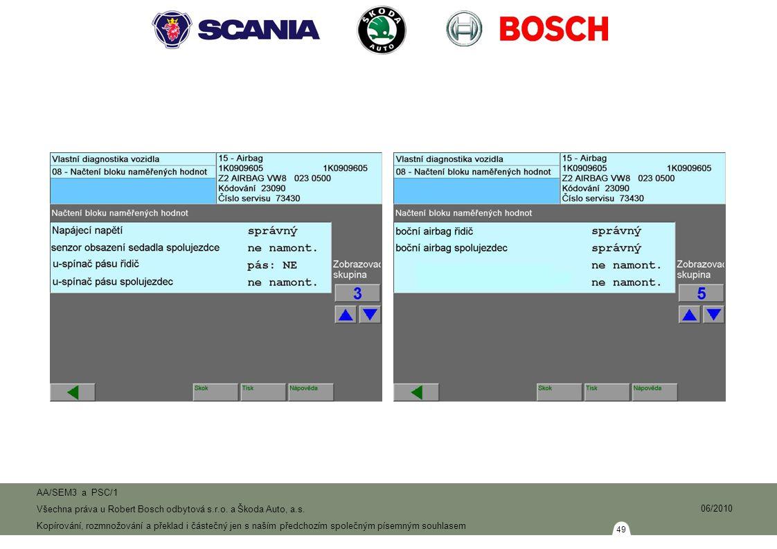 49 AA/SEM3 a PSC/1 Všechna práva u Robert Bosch odbytová s.r.o.