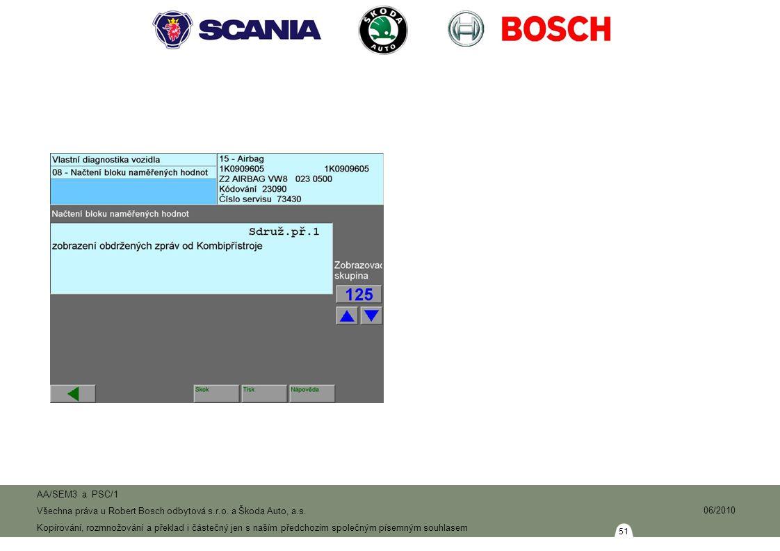 51 AA/SEM3 a PSC/1 Všechna práva u Robert Bosch odbytová s.r.o.