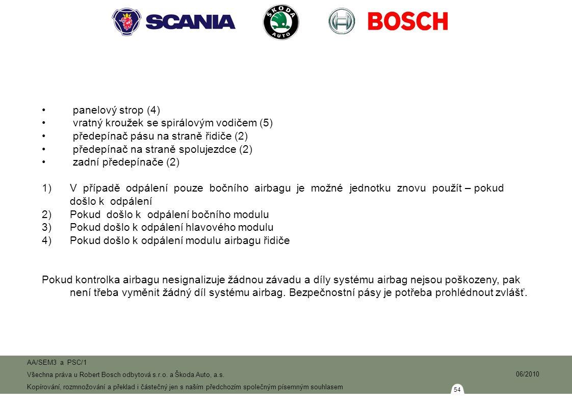 54 AA/SEM3 a PSC/1 Všechna práva u Robert Bosch odbytová s.r.o.