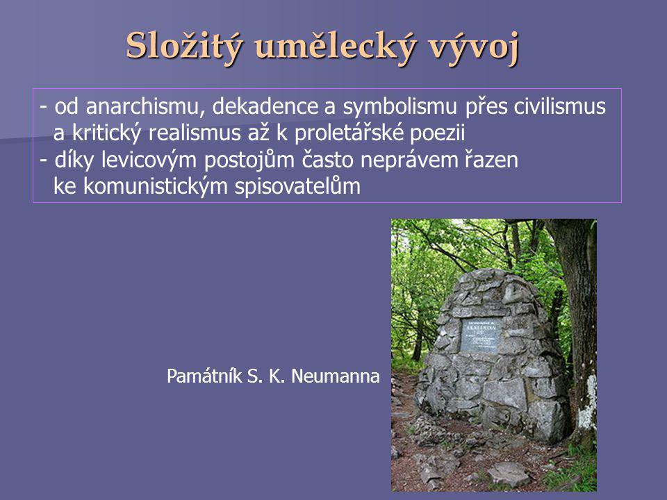 """http://cs.wikipedia.org/wiki/Stanislav_Kostka_Neumann  na konci století se přiklonil k anarchismu (k dispozici vlastní časopis """"Nový kult"""")  spolupr"""