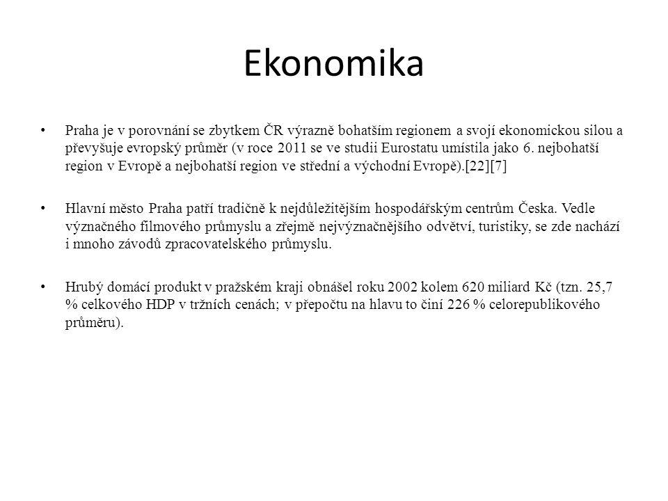 Ekonomika Praha je v porovnání se zbytkem ČR výrazně bohatším regionem a svojí ekonomickou silou a převyšuje evropský průměr (v roce 2011 se ve studii