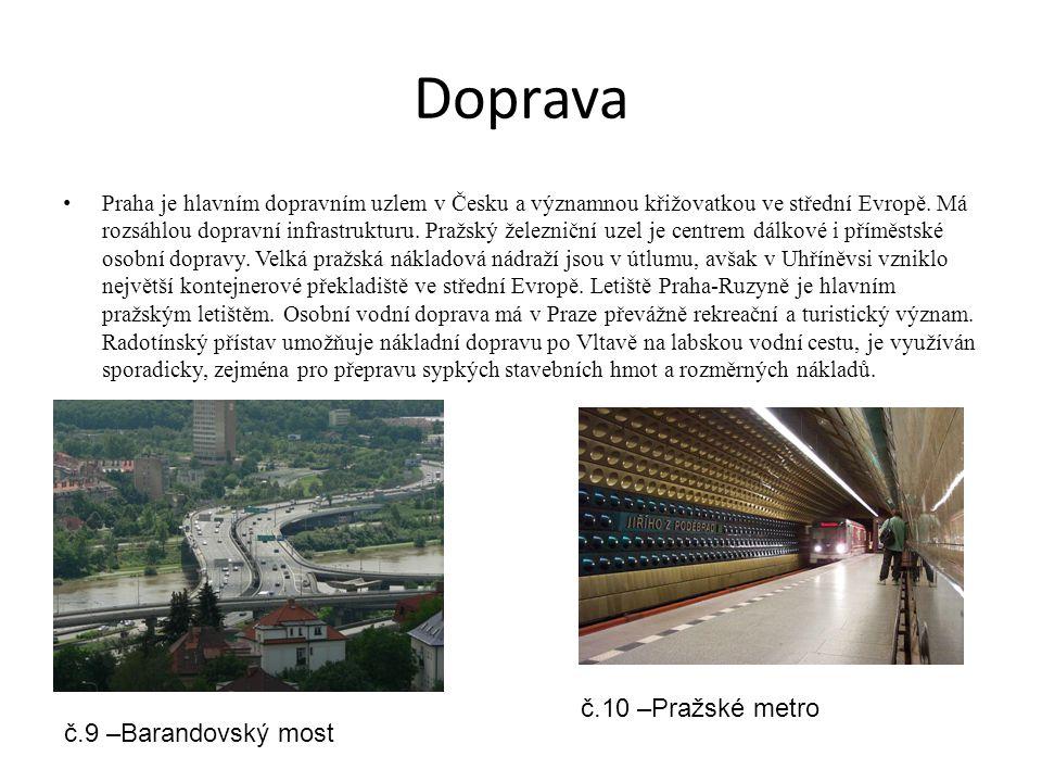 Doprava Praha je hlavním dopravním uzlem v Česku a významnou křižovatkou ve střední Evropě. Má rozsáhlou dopravní infrastrukturu. Pražský železniční u