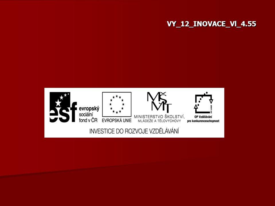 """Označení vzdělávacího materiálu (kód): VY_12_INOVACE_Vl_4.55 Název školy: Základní škola a Mateřská škola Byšice, okres Mělník Název programu: Operační program Vzdělávání pro konkurenceschopnost Název projektu: """"Vzdělání pro život Registrační číslo projektu: CZ.1.07/1.4.00/21.1994."""