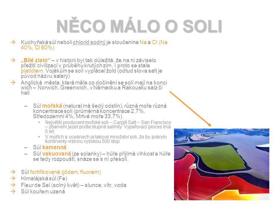 1 plná čajová lžička soli je 5g DENNÍ DOPORUČENÁ DÁVKA SOLI 1g solení a dosolování 4g v potravinách Děti 1-3 roky…..2g soli/den