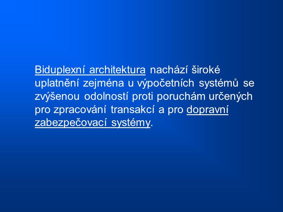 Biduplexní architektura nachází široké uplatnění zejména u výpočetních systémů se zvýšenou odolností proti poruchám určených pro zpracování transakcí