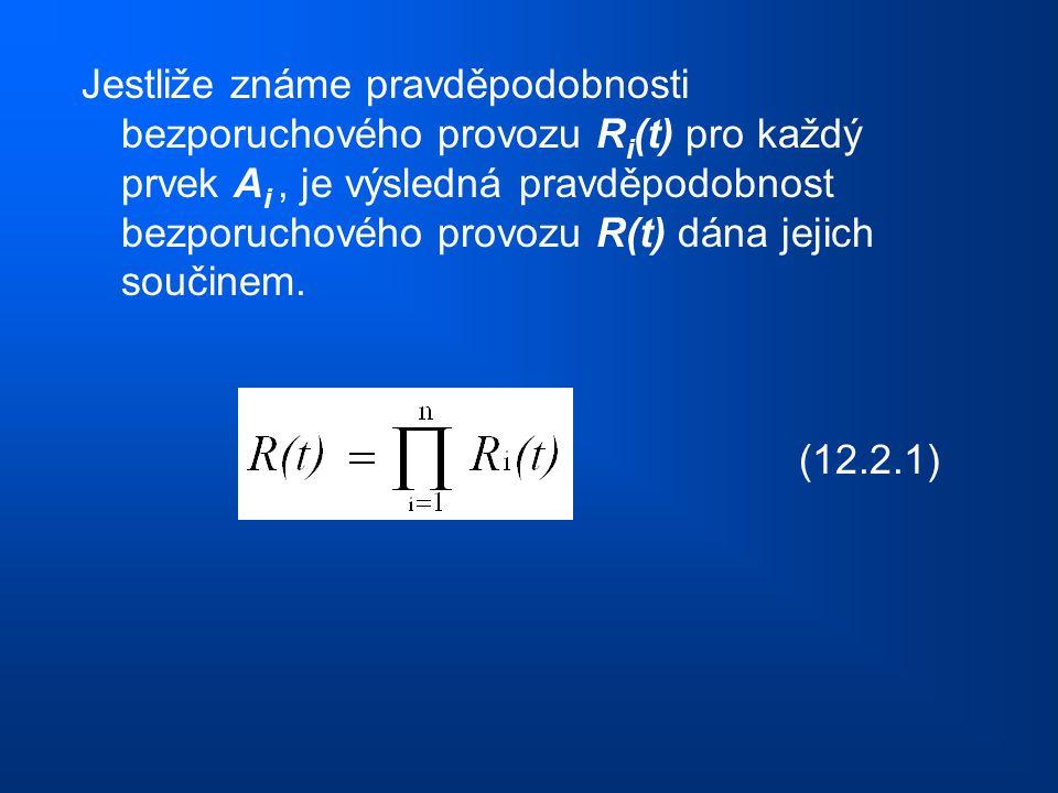Jestliže známe pravděpodobnosti bezporuchového provozu R i (t) pro každý prvek A i, je výsledná pravděpodobnost bezporuchového provozu R(t) dána jejic