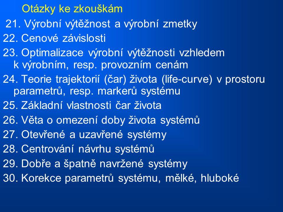 Otázky ke zkouškám 21.Výrobní výtěžnost a výrobní zmetky 22.