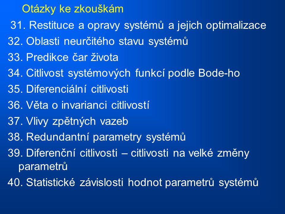 Otázky ke zkouškám 31.Restituce a opravy systémů a jejich optimalizace 32.
